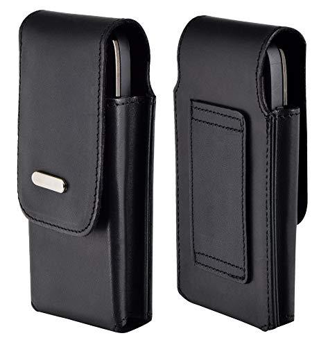 Favory-Shop Vertikal Etui kompatibel mit Primo 413 by Doro Köcher Tasche Hülle Ledertasche Vertical Hülle Handytasche mit Einer Gürtelschlaufe auf der Rückseite