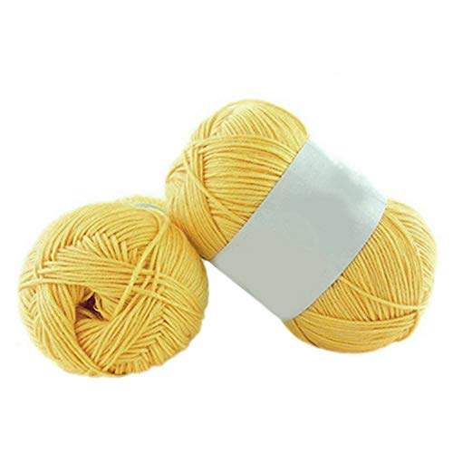 1PC 50g per matassa morbido bambù uncinetto cotone bambino maglia di lana filato Amesii #4 Yellow