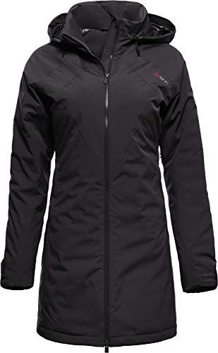 YETI RAA W's Hardshell Down Coat Dames Hardshell mantel met donsjas, Zwart, Maat XXL