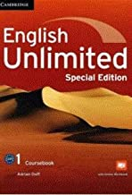 English Unlimited Level 1 Coursebook with Online Workbook and Workbook Special Updated Saudi Edition
