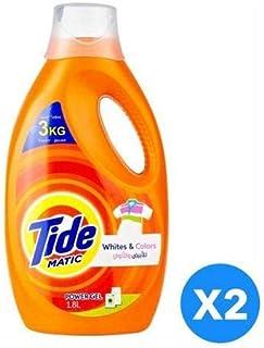 Tide White & colors Power Detergent Gel Twin Pack - 2 x 1.8 Litre