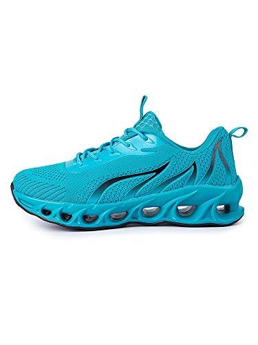 UKAP Zapatillas de correr impresionantes zapatillas de senderismo para hombre, para hacer deporte, correr, actividades al aire libre, tiempo libre, atlético, tenis, color, talla 47 EU