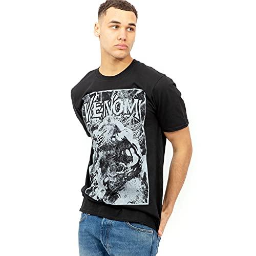 Marvel Venom Web Camiseta, Negro, XL para Hombre