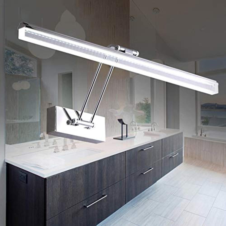 WENYAO Die erntezeit led Spiegel frontleuchte Moderne badezimmerspiegel kabinett Lampe Wandleuchte Edelstahl acryl (gre  45 cm)