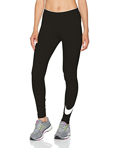 Nike W NSW Club logo2 Damen Leggings, Schwarz(Black/White/010), Gr. L