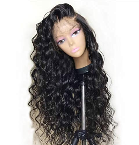 HD Transparent Lace Wig Loose Wave Human Hair Wigs Pre Plucked Wave Lace Front Human Hair Wigs with Baby Hair for Black Women 130% Density 16 inch