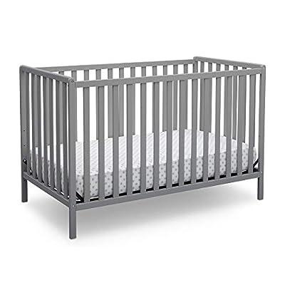 Delta Children Heartland 4-in-1 Convertible Crib, Grey by Delta Baby Dropship