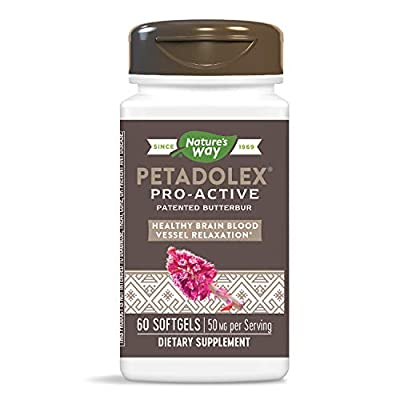 Petadolex Pro-Active from Enzymatic Therapy, LLC, supports healthy blood vessel relaxation in the brain* Butterbur (Petasites hybridus) contains several compounds with bio-active properties. Two of these compounds, petasin and isopetasin, support the...