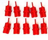 Lego Parts: Red Minifig, Utensil Dynamite Sticks Bundle (x10 Loose)