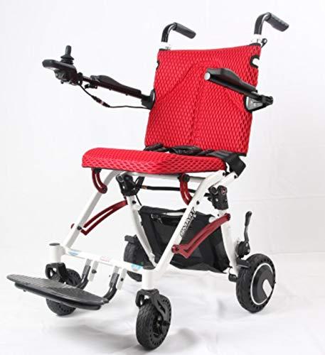 YIONGA CAIJINJIN eléctrica Silla de Ruedas Ultra-Light Power Power Power Power, Scooter de Movilidad Peso Neto 17kg (Color : Red)