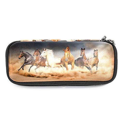TIZORAX - Astuccio portapenne a forma di cavalli, ideale per la scuola e l'ufficio