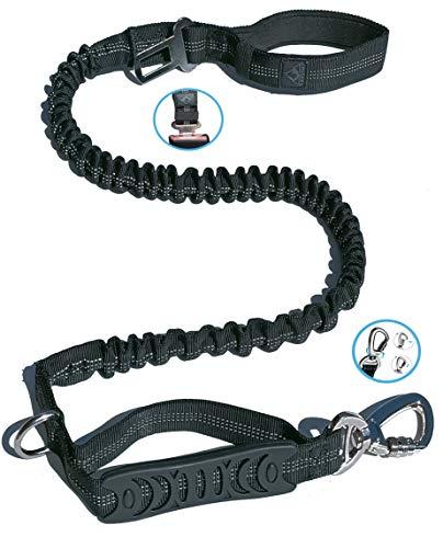 ANITECH 【5-Jahres-Garantie】 Anti-Traktion große Hundeleine (1,80 M)【Sicherheitsgurt】 Stoßdämpfung + Reflektierende Nähte + Doppelter Handgriff
