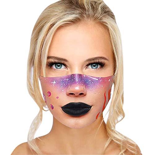 Mundschutz 3D Lustige Maske Erwachsene Waschbar Stoffmaske Mehrweg Atmungsaktiv Tuch Halstuch Bandana Motive Mund und Nasenschutz Wiederverwendbar Multifunktional Staubschutz (P)