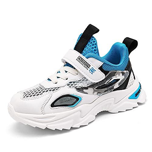 BLBK Zapatillas de deporte para niños, para correr, para niños, para el colegio, para interiores, para el verano, al aire libre, para niños., Grün2., 35 EU