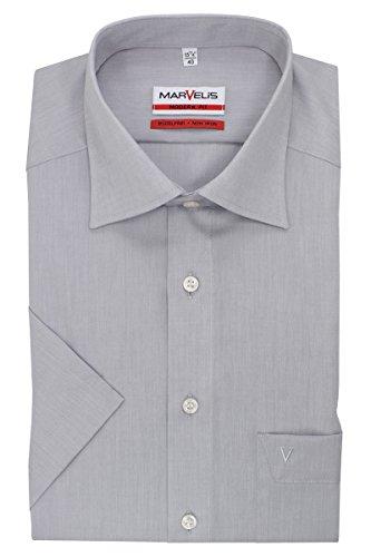 Marvelis Hemd Modern Fit hellgrau, Einfarbig, Größe 43 - XL
