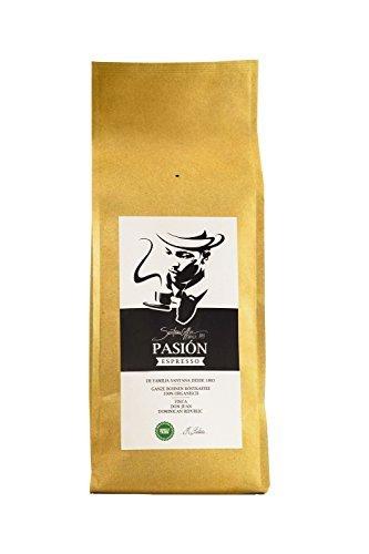 SANTANA PASIÓN Ganze Kaffeebohnen, 100% Arabica, Premium Espresso, Fairtrade, aus dem Hochland, Dominikanischen Republik, Direkt von der Familie Santana, 500g
