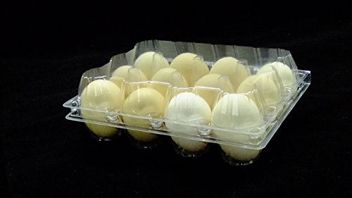 12Packs Egg Tray Stackable & Nestable Holds 12 Eggs Fits All Sizes Eggs Plastic Material Clear Tray Egg Holder Recyclable Buckle Closed Tray for Home Restaurant Kitchen (Egg)