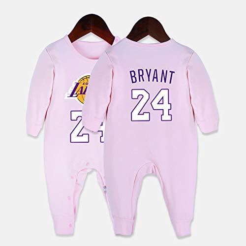 LDLXDR Maillots de joueur de Basket-Ball garçon- Uniforme de Baloncesto para bebé, número de Equipo, Nombre 0-15 Meses Mono,Pink,59cm