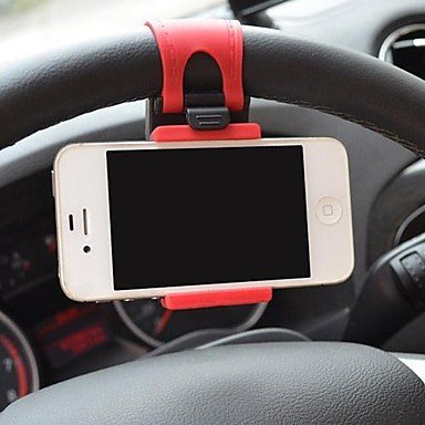 Universal Car Steering Wheel Mobile Phone Holder for iPhone And Other cellphones Hands Free In Car Accessories Adjustable GPS Saver