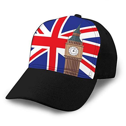 hyg03j4 Gorras de béisbol de Rejilla para Adultos Sombrero de sombrilla Unisex Sombrero de Malla Gorra Snapback Big Ben con