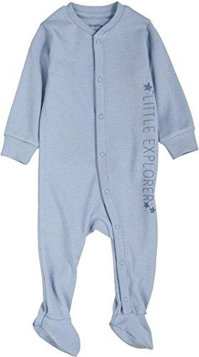 Golden Lutz® Baby Jungen Schlafstrampler Little Explorer, lang, 100% Bio-Baumwolle (blau, Gr. 74) | LUPILU