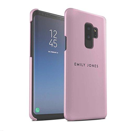 Gepersonaliseerd Individueel pastel stempel mat hoes voor Samsung Galaxy S9 Plus/G965/roze design/initiaal/naam/tekst snap-on beschermhoes/case/etui