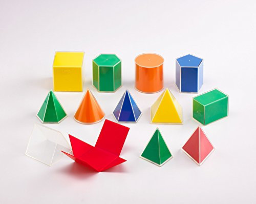 Folding Geometric Solid Cube, 2D/3D, 12 Pieces (Pack of 12)