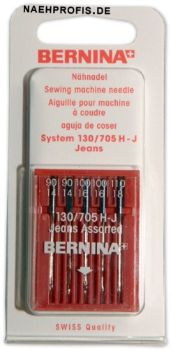 BERNINA Jeansnadeln für Nähmaschine, Stärken 90-110