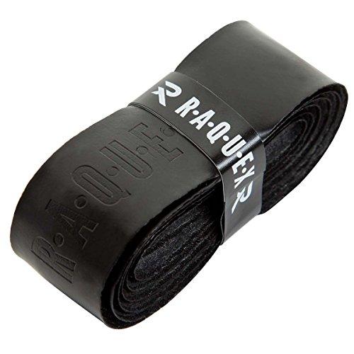 Raquex Ersatz-Griffband, aus Polyurethan, Schlägergriffband für Tennis, Squash oder Badminton (Schwarz, 1 Griffband)