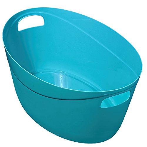 Great Plastic Multiuso Cestino Ovale, 37Litri, Blu, Confezione da 12