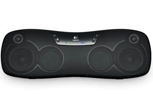 Logitech BoomBox Lautsprecher schnurlos schwarz (für iPad, iPad 2 und iPad 3. Generation, Tablets, Noteboooks, Smartphones mit Bluetooth)