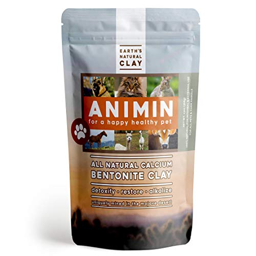 Earths Living Animin Calcium Bentonite Clay for Pets | 13 oz | Alkalizing Detox Powder Relieves Arthritis, Diarrhea etc | Cleanses Toxins, Parasites, Bacteria | Supports Digestive and Immune System