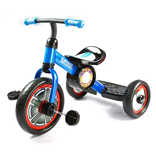 Vouwen 3 in 1 Kinderen Driewielers, 10 '' Loopfiets fiets met pedaal voor jongens en meisjes 2-5 jaar oud