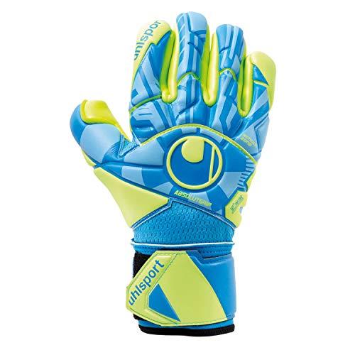 uhlsport Unisex– Erwachsene Control ABSOLUTGRIP Finger SURROUN Torwarthandschuhe, Fußballhandschuhe, Radar blau/Fluo gelb/schw, 9.5