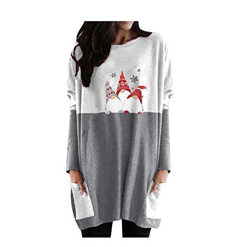 N\P Mujeres Manga Larga Navidad Impreso Modo Robe Femme Suéter Mujeres Animal Print