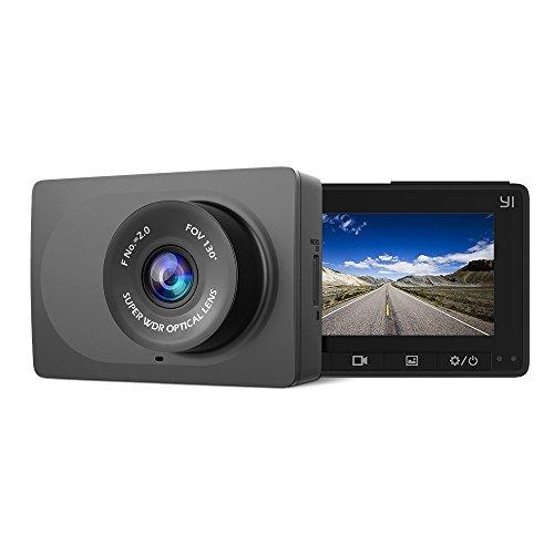 YI Dash Cam Ultra HD 1080p/30fps Grandangolo di 130° Grande Schermo LCD in Emergenza Auto con Wifi, WDR, Registrazione, Rilevazione di Movimento