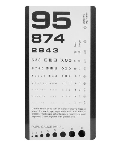 NCD Medical/Prestige Medical 3908 Pocket Eye Chart