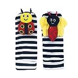Cartoon-Baby-Handgelenks-Rassel-Socken Set,0–12 Monate,Kleinkinder-Spielzeug,Handglocken,weiche Plüsch-Socken,Armband für Neugeborene,Mädchen,Fußfinder, (1/2 Paar)