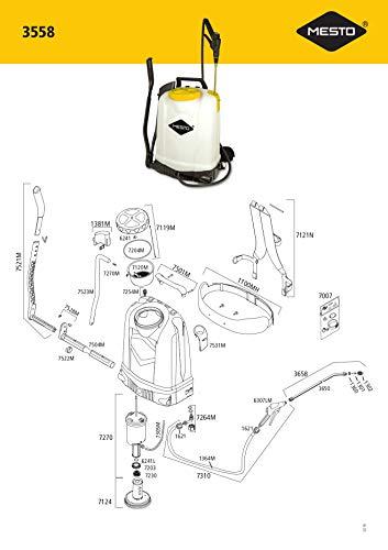 社 MESTO 畜圧式噴霧器 RS185 18L 3558BT