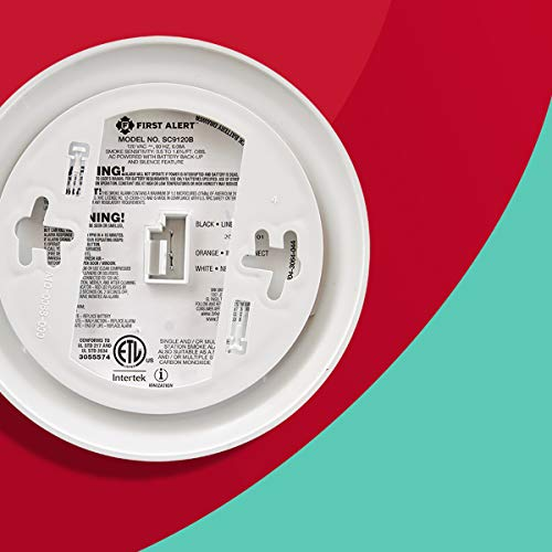 First Alert BRK SC9120B Hardwired Smoke Detector and Carbon Monoxide (CO) Detector with Battery Backup