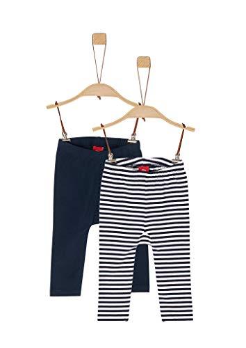 s.Oliver Unisex - Baby 2er-Pack Leggings aus Jersey Navy/Navy Stripes 92.REG