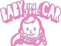 Baby in the car  ベービーインザカー 子供が乗ってますステッカー Super Boy (ピンク)