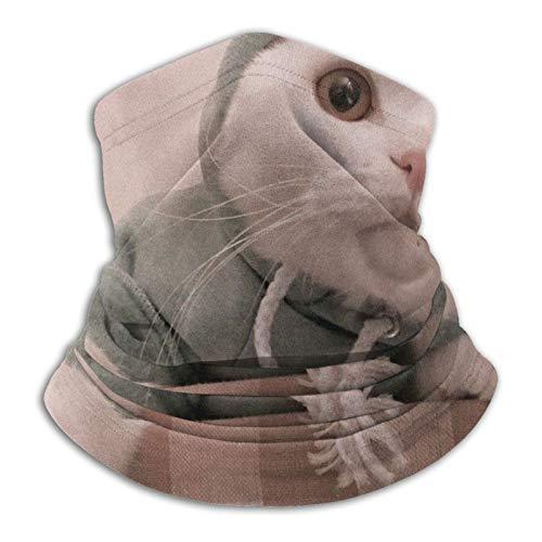 Towel&bag Lindo gato unisex calentador de cuello de microfibra resistente al viento a prueba de polvo protección UV polaina cuello bufanda negro