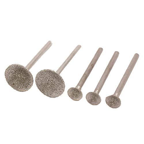 10 piezas 0,5~16 mm Accesorios Cabezales de pulido de diamante Agujas de lijado Varilla de pulido revestida Broca de fresa de 3 mm para herramienta rotativa Dremel, 3,0x10 mm