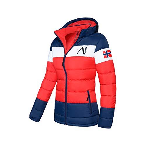 Nebulus Wattierte Jacke MIXUP Damen (Model: P4832 - Damen, rot-blau; Größe: XL(42)) FBA