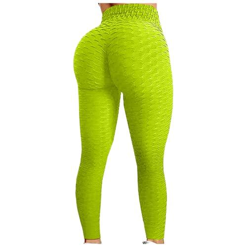 QTJY Pantalones de Entrenamiento de Cadera con Burbujas para Mujer, Pantalones de Yoga de Cintura Alta para Correr, Pantalones de Ejercicio con Push-up para Mujer, Pantalones para Correr NL
