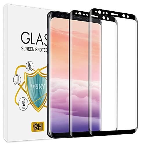 wsky [2 Stück] Panzerglas Schutzfolie für Samsung Galaxy S9, Klar Panzerglasfolie, Kristallklar Schutz vor Kratzen, Öl Bläschen, Displayschutzfolie für Samsung S9