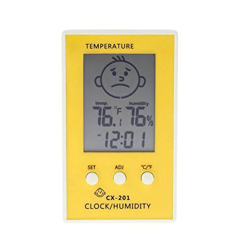 Digital Thermometer Hygrometer Innen Hygrometer Thermometer für Baby-Raum-Temperatur Feuchtigkeit Feuchte Überwachung, digital einfach Sofort mit Lächeln/Unhappy Emotion Icon lesen