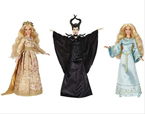 qwerqz 3 Stück Stofftier-soriginal Maleficent Movie Collection Puppe Dark Beauty Maleficent Geliebte Royal Coronation Dornröschen Puppen Für Mädchen Spielzeug 30cm