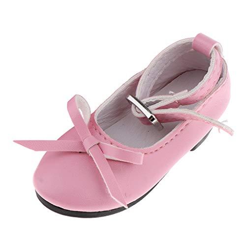 SM SunniMix Encantador 1/3 BJD PU Bowknot Zapatos de Ocio para La Noche Lolita Doll Clothes Accs - Rosado 1